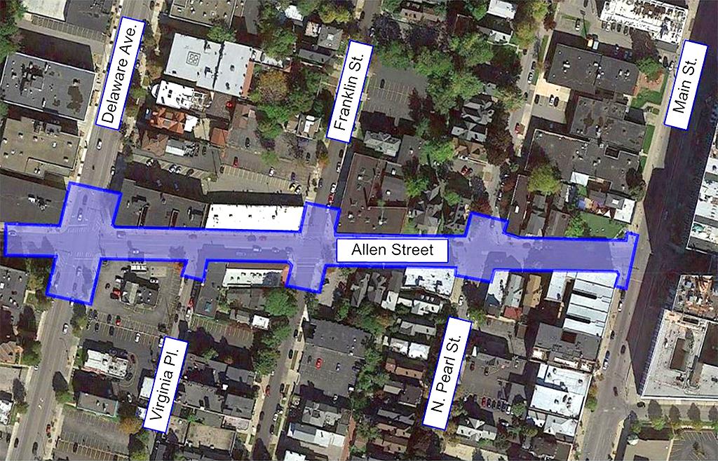 Allen Street - Project Map